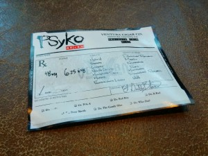 PSyKo SEVEN cigar label